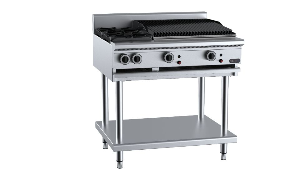 B+S  Verro VHBT-SB2-CBR6 Combination Two Open Burners & 600mm Char Broiler