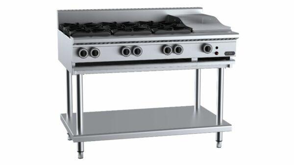 B+S Verro  VHBT-SB6-GRP3 Combination Six Open Burners & 300mm Grill Plate