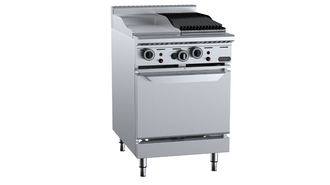 B+S Verro VOV-GRP3-CBR3Oven with 300mm Grill Plate & 300mm Char Broiler