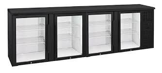 Anvil Aire BBZ0400 Four Door Glass Backbar Fridge