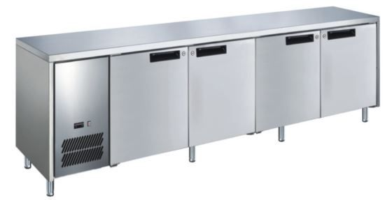 Glacian BCS62350 Slimline 660mm Deep 4 Door S/S Underbench Fridge