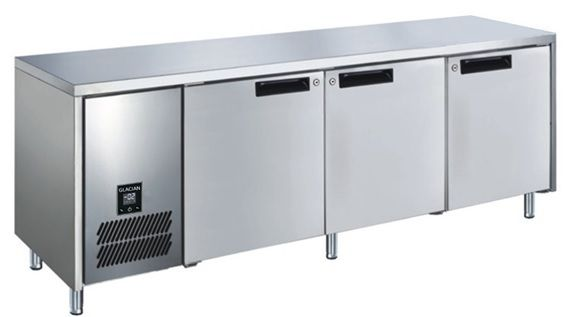 Glacian BFS61885 Slimline 660mm Deep 3 Door S/S Underbench Freezer
