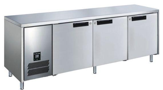 Glacian BFS61885 Slimline 660mm Deep 3 Door S/S Underbench Freezer