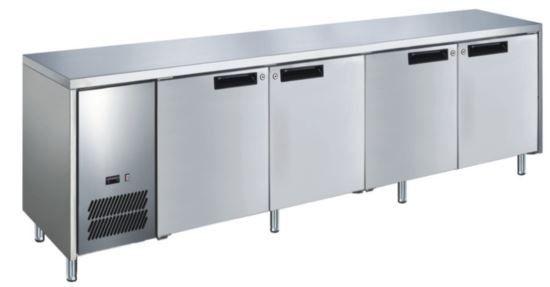 Glacian BFS62350 Slimline 660mm Deep 4 Door S/S Underbench Freezer