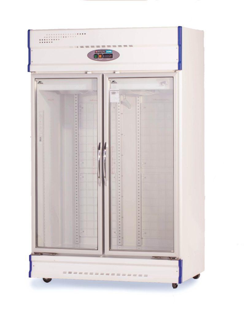 Anvil Aire GDJ1261 Double Glass Door Upright Display Freezer