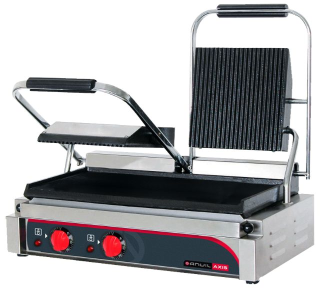 Anvil TSS3000 Panini Press Double (ribbed top / flat bottom)