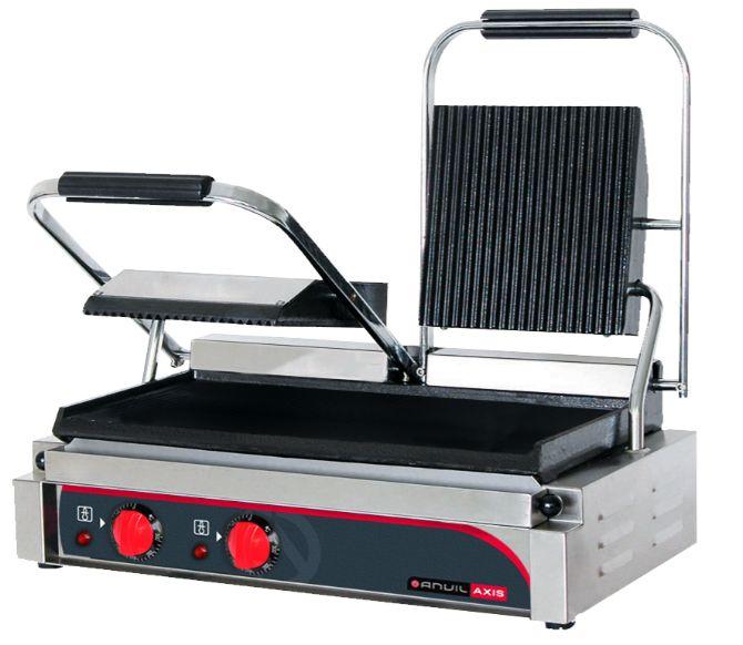 Anvil TSS3000 Panini Press Double (ribbed top / flat bottom)