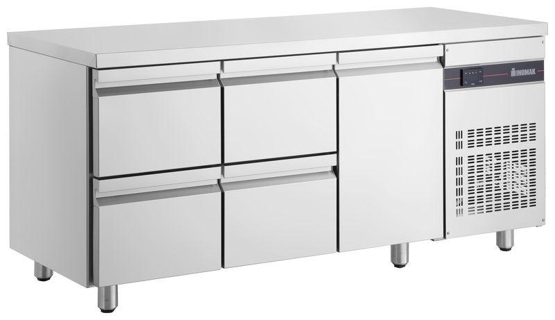Inomak UBD4000 Under Bar Drawer Chiller (1 Door / 4 Drawers)