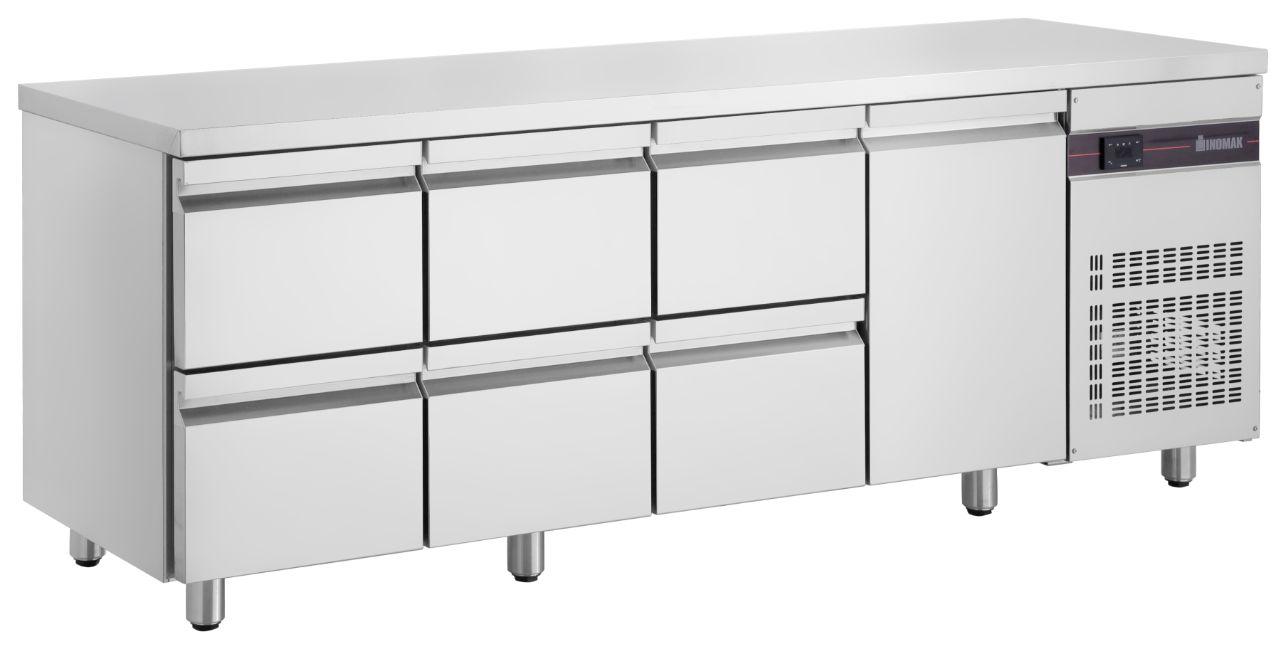 Inomak UBD6000 Under Bar Drawer Chiller (1 Door / 6 Drawers)