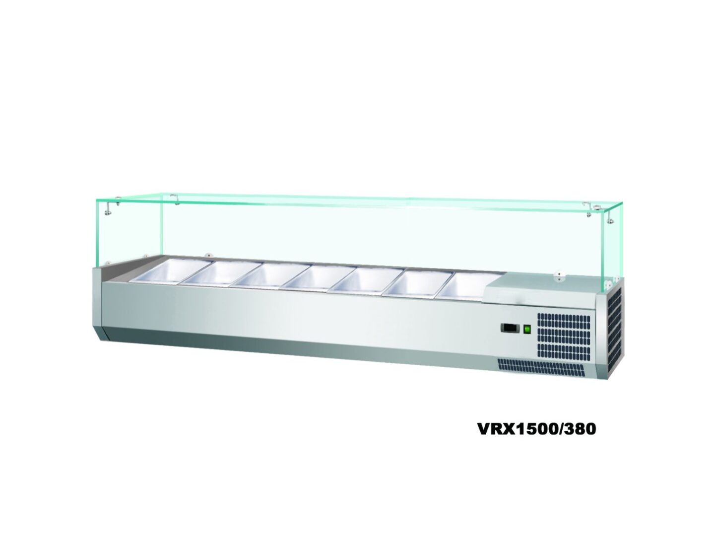 Anvil VRX1200 Refrigerated Glass Canopy Ingredient Unit