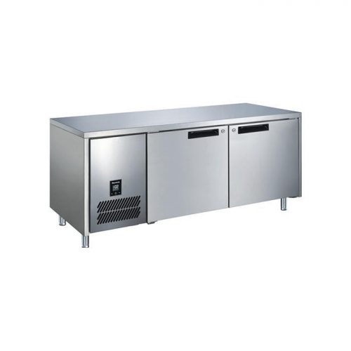 Glacian BCS61420 Slimline 660mm Deep 2 Door S/S Underbench Fridge