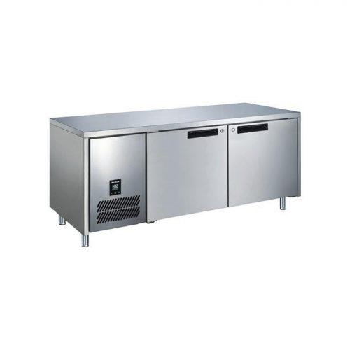 Glacian BFS61420 Slimline 660mm Deep 2 Door S/S Underbench Freezer