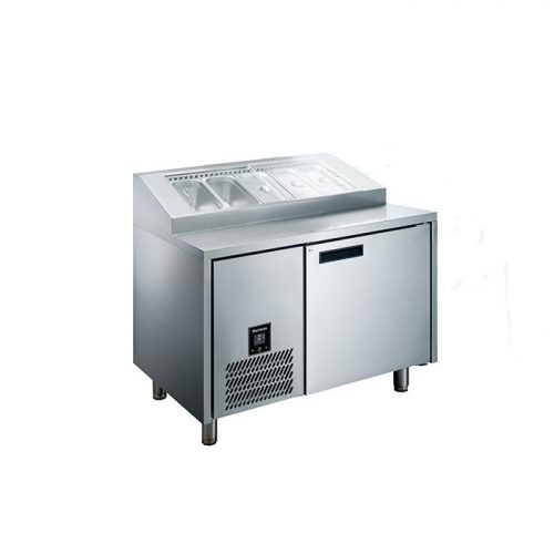 Glacian HBP1152 760mm Deep 1 Door S/S Pizza Prep Fridge
