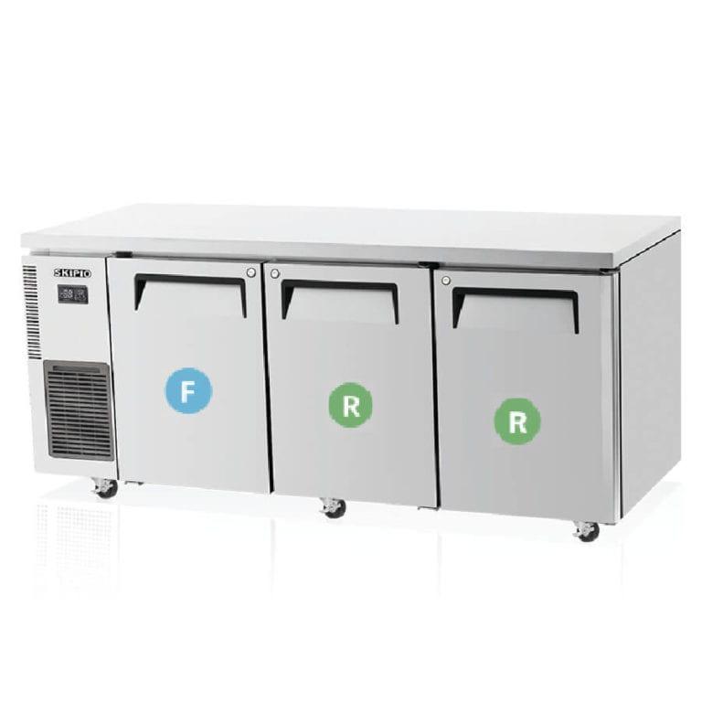 Skipio  SURF18-3 Undercounter Dual temp Refrigerator & Freezer