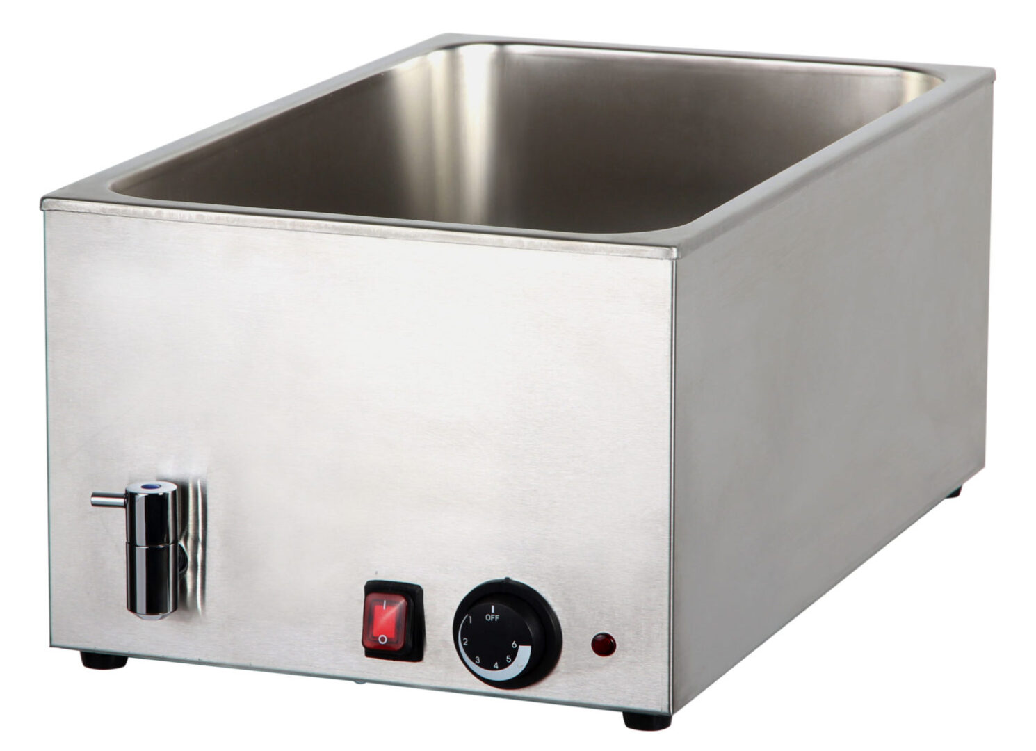 Cookrite 8710 Bain Marie with Mechanical Controller and Drain 580x340x245