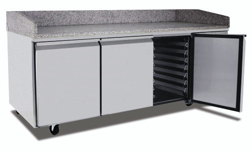 Atosa EPF3485 3 Door Refrigerated Pizza Table 2010 mm