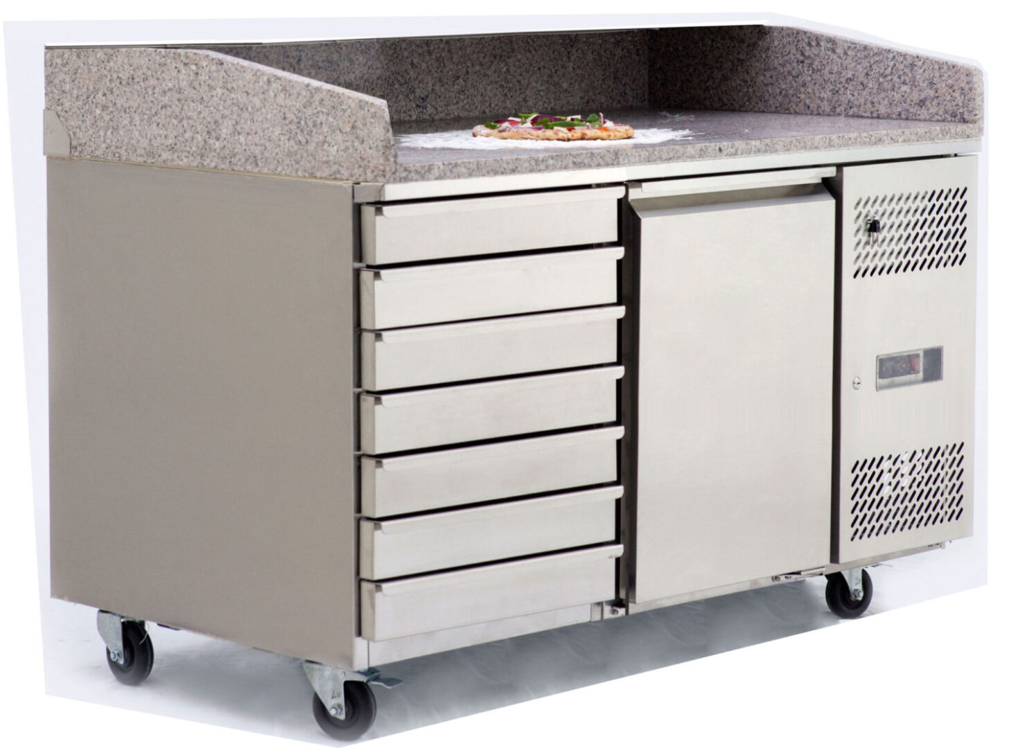 Atosa EPF3490 1 Door Refrigerated Pizza Table with Drawers 1510 mm