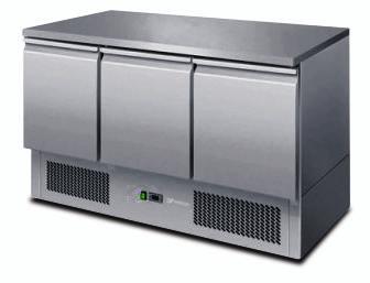 Atosa ESL3851 3 Doors Table Saladette 1365 mm