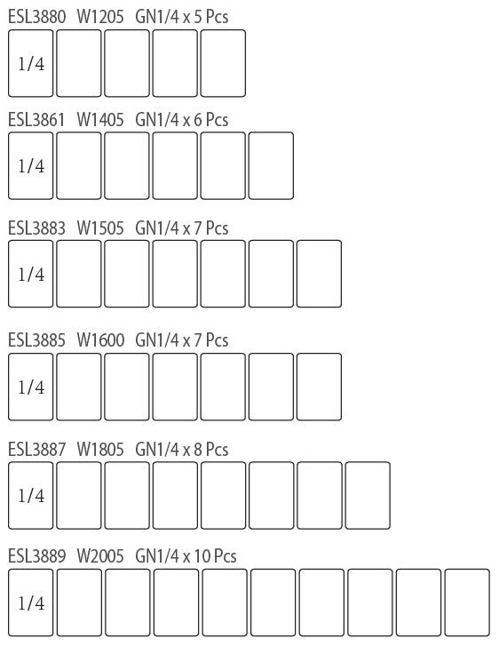 Atosa ESL3861 ESL Counter Top Salad Bar | BAC GN1/4 x 6