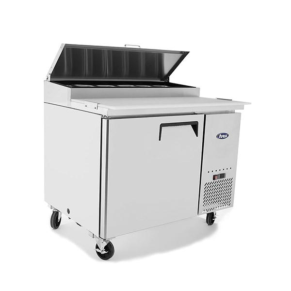 Atosa MPF8201 1 Door Pizza Prep Table Refrigerator 1117 mm