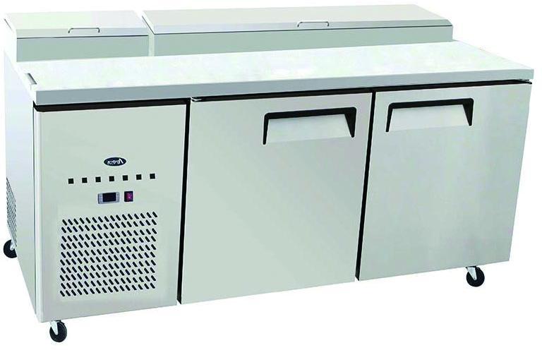 Atosa MPF8202 2 Door Pizza Prep Table Refrigerator 1702 mm