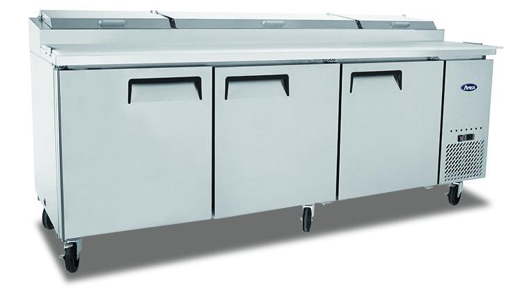 Atosa MPF8203 3 Door Pizza Prep Table Refrigerator 2362 mm