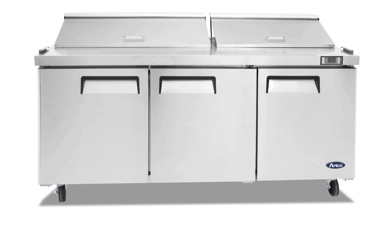 Atosa MSF8304 3 Door Sandwich Prep Table Refrigerator 1846 mm
