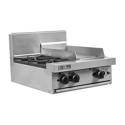 Trueheat RC Series 600mm Top W 2 Burners And 300mm Griddle Plate NG
