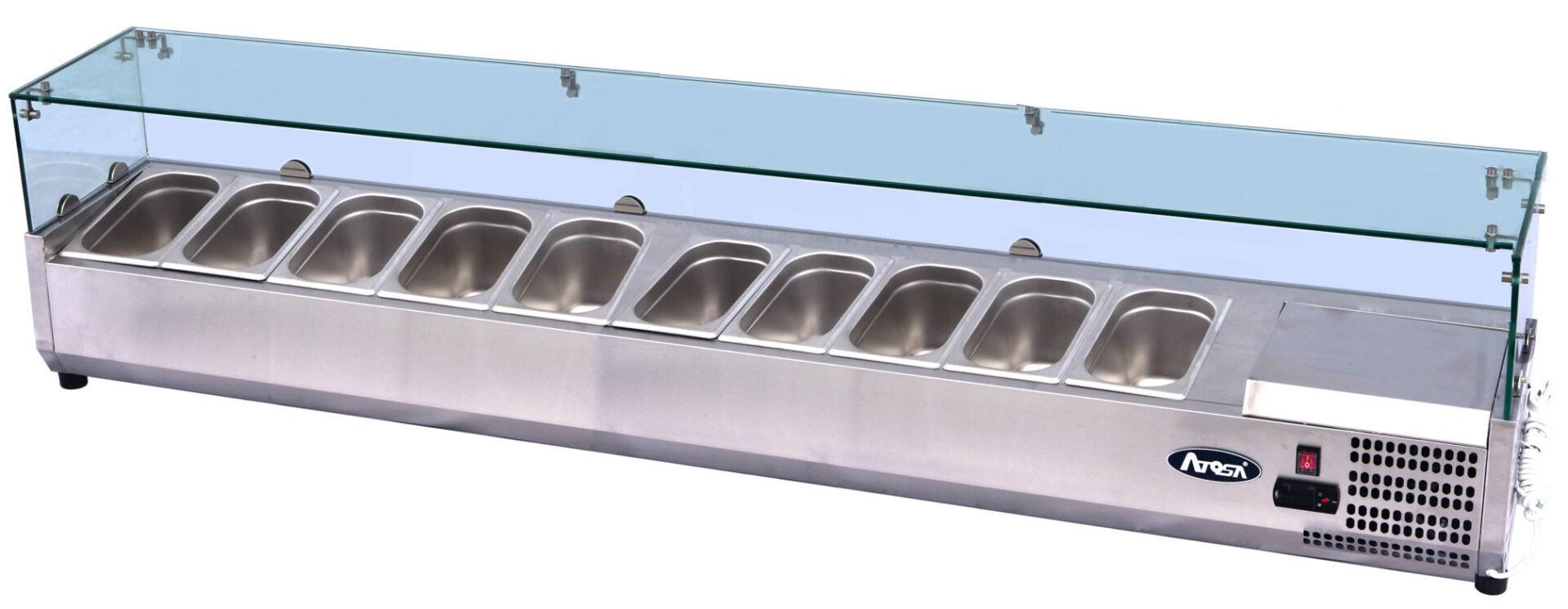 Atosa ESL3889 ESL Counter Top Salad Bar | BAC GN1/4 x10