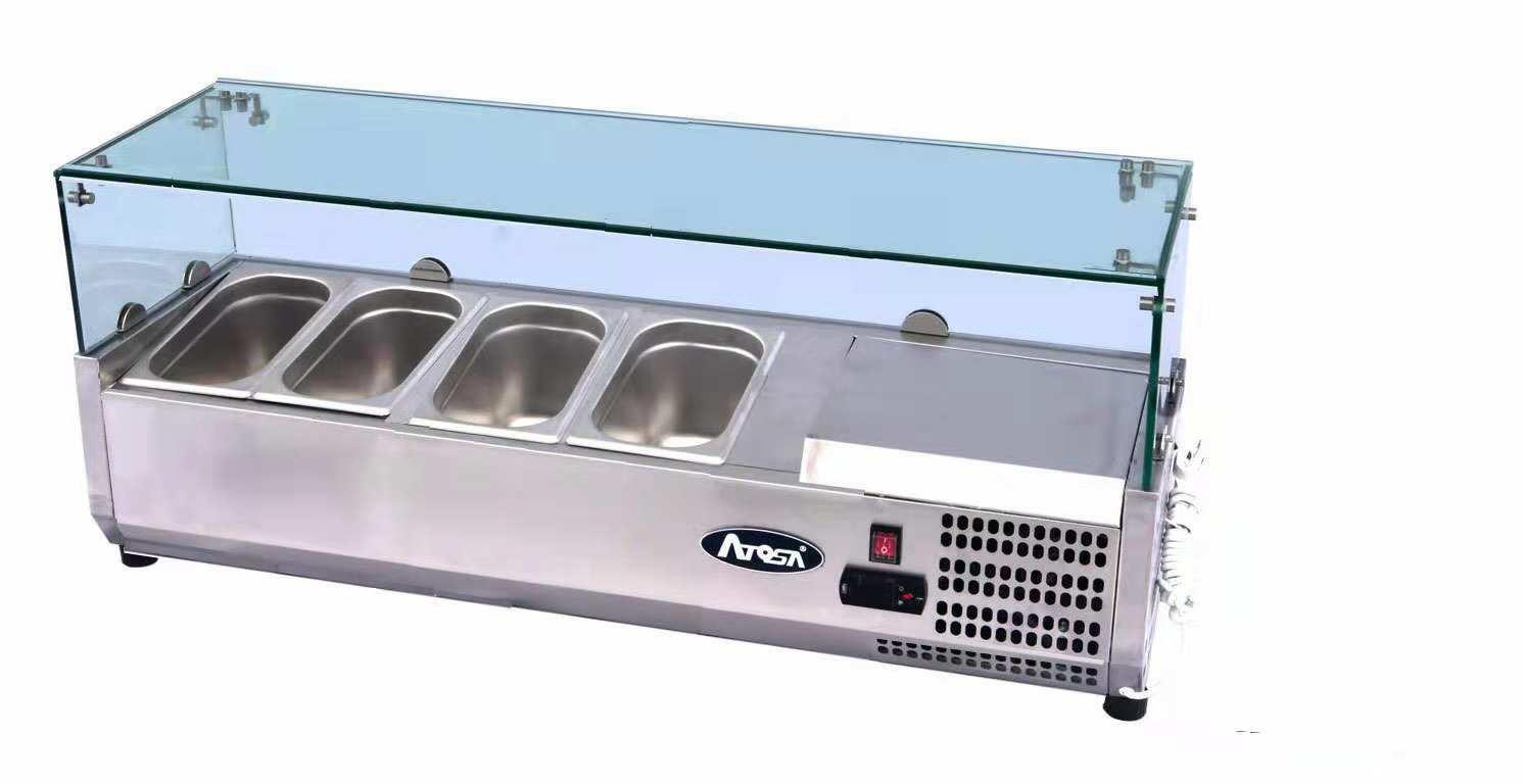 Atosa ESL3881 ESL Counter Top Salad Bar | BAC GN1/3 x 4