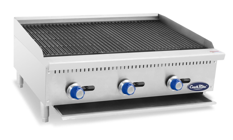 Cookrite ATCB-36-LPG 910mm Char-Rock Broiler W910 x D700 x H385