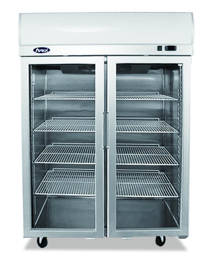 Atosa YCF9408 Top Mounted Double Door Glass Freezer