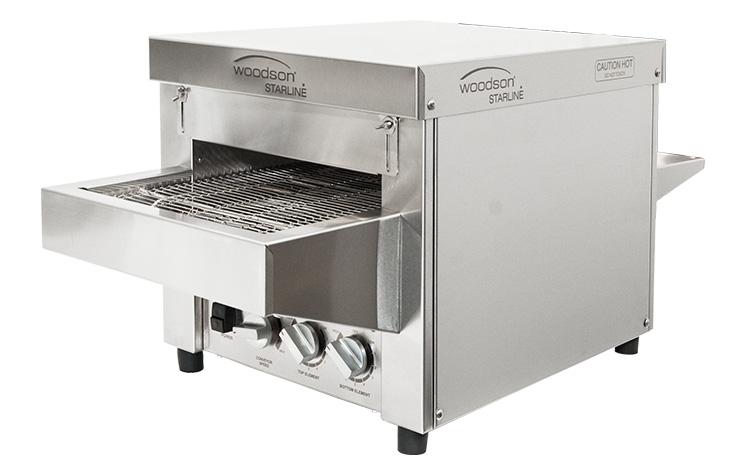 Woodson Starline W.CVS.S.10 10 Amp Metal Element Snackmaster Small Conveyor Oven