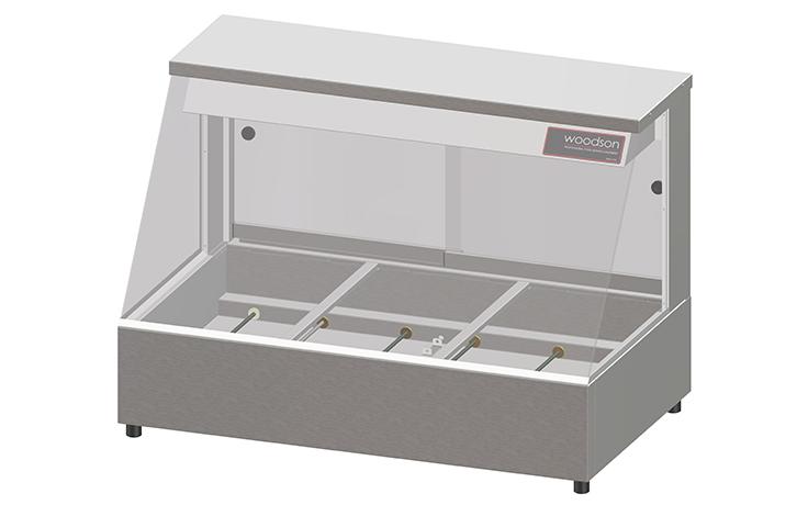 Woodson W.HFS23 3 Module Straight Glass Hot Food Display