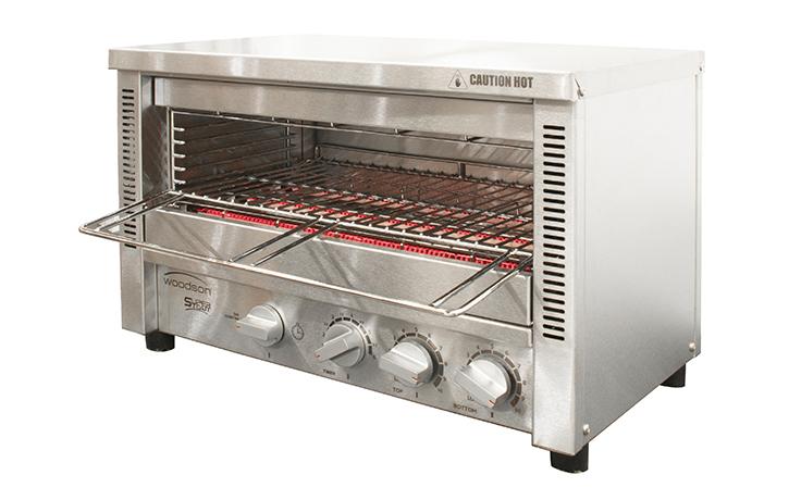 Woodson W.GTQI8S.10 Supertoast Multi-Function 8 Slice Glass Element Toaster Griller