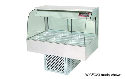 Woodson W.CFC25 5 Module Curved Glass Cold Food Display