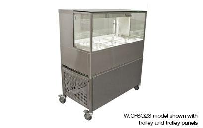Woodson W.CFSQ23 3 Module Square Glass Cold Food Display