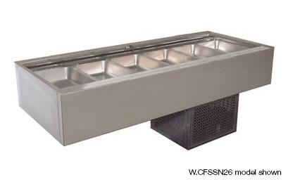Woodson W.CFSSN23 3 Module Flat Deck Self Serve Cold Food Display