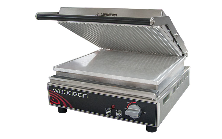 Woodson W.CT6R 6 Slice Ribbed Contact Grill