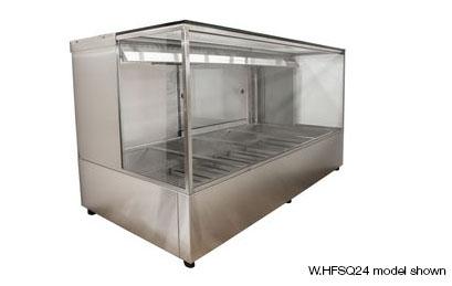 Woodson W.HFSQ22 2 Module Square Glass Hot Food Display