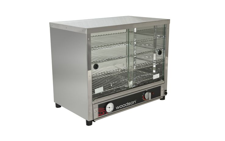 Woodson W.PIA50G Pie Display and Food Display 50 Capacity with Sliding Glass Doors