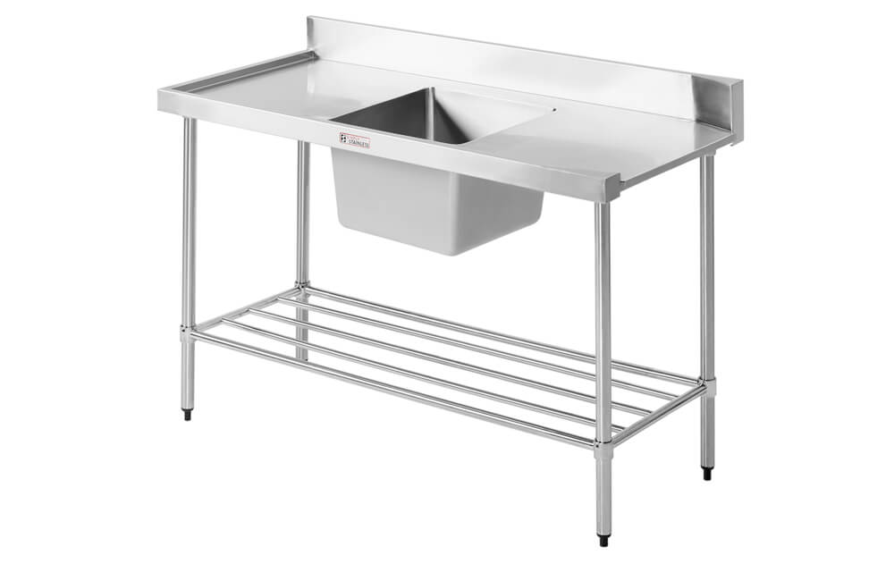 Simply Stainless SS08.7.1650.L Dishwasher Inlet Bench