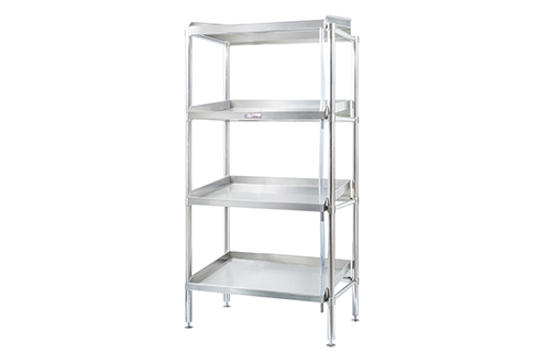 Simply Stainless SS17.DF.1200 Adjustable Defrost Stainless Steel 4 Tier Shelving