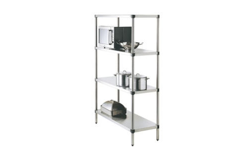 Simply Stainless SS17.1200SS Adjustable Standard Stainless Steel 4 Tier Shelving