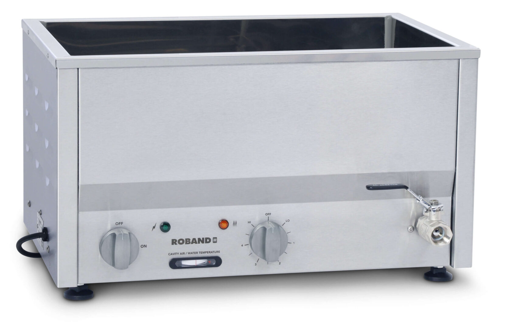 Roband BM2 Counter Top Bain Marie 2 x 1/2 size, pans not included