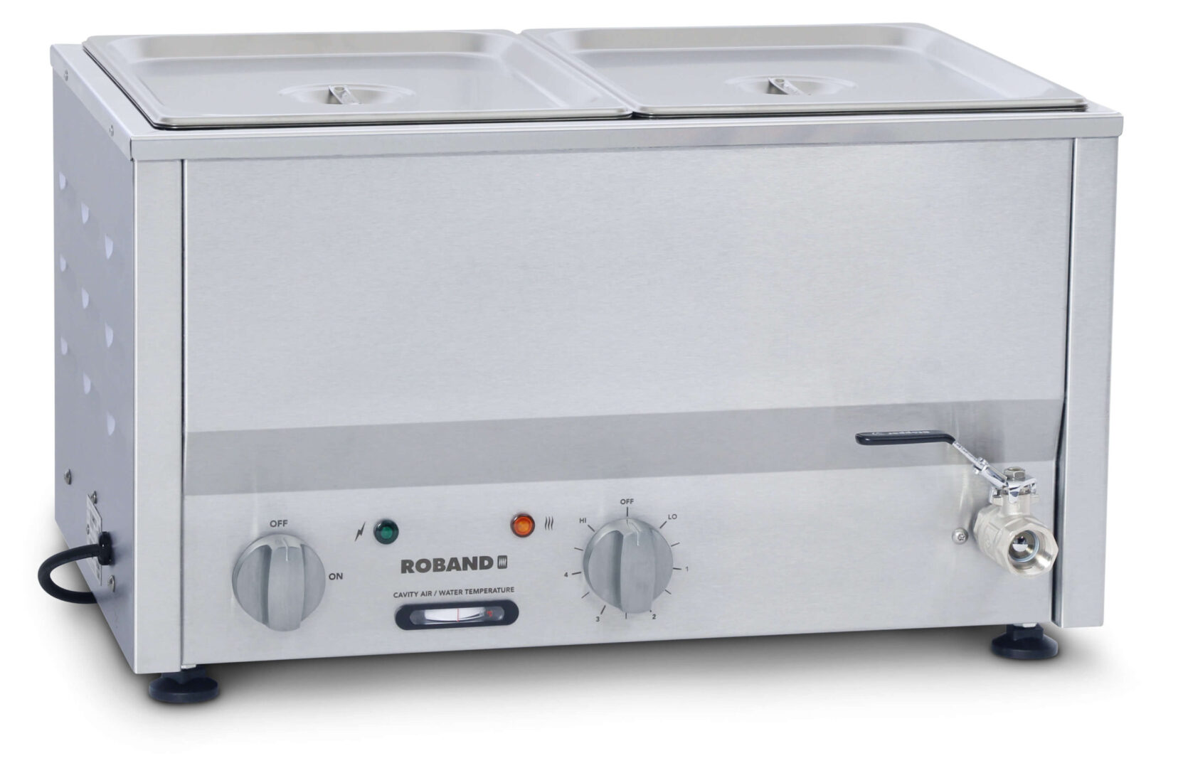 Roband Counter Top Bain Marie 2 x 1/2 size 100mm pans