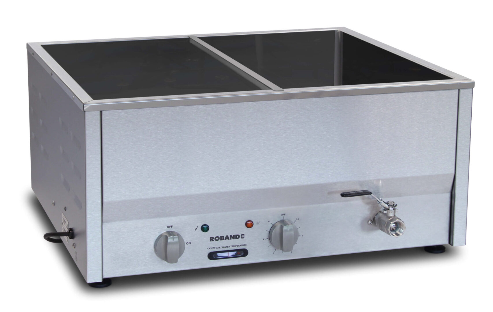 Roband Counter Top Bain Marie 4 x 1/2 size, pans not included