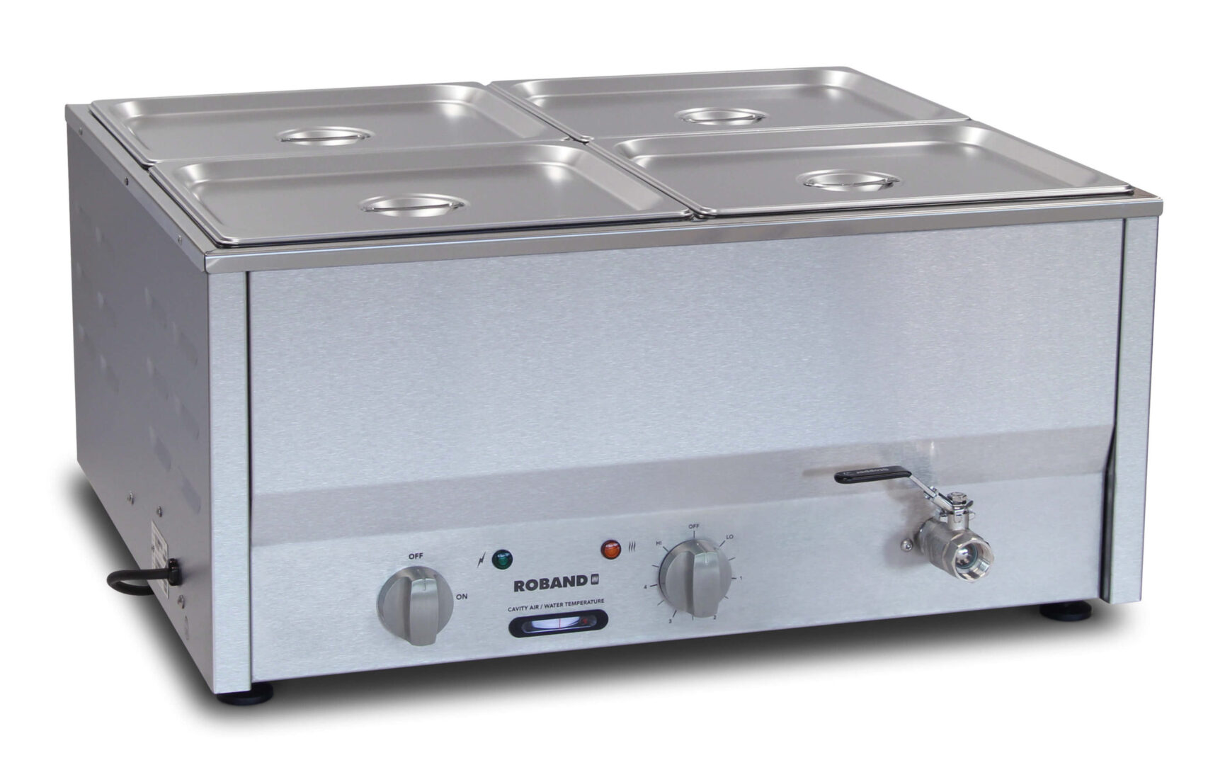 Roband Counter Top Bain Marie 4 x 1/2 size 100mm pans
