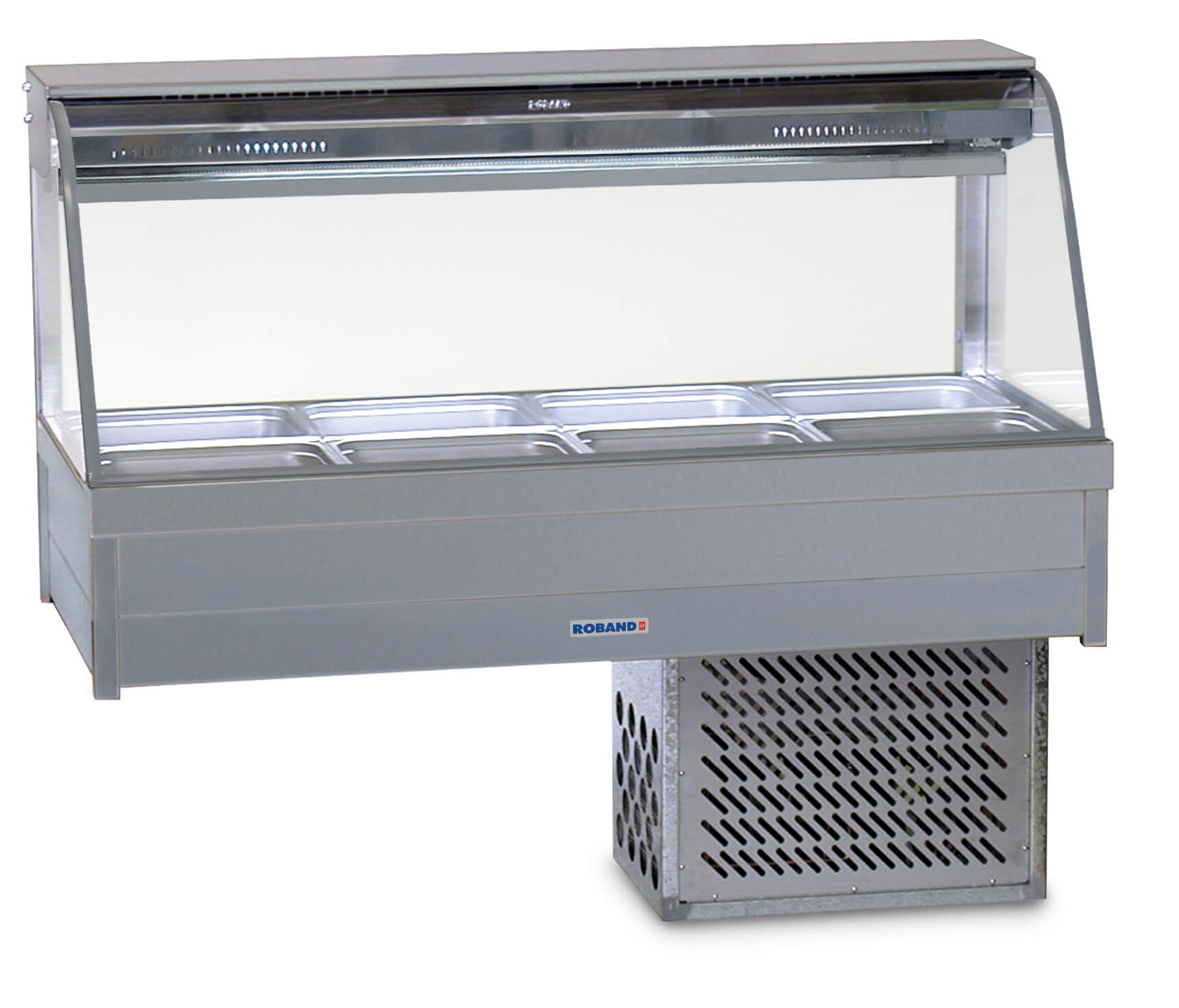 Roband CFX24RD Curved Glass Refrigerated Display Bar – Piped and Foamed only (no motor), 8 pans